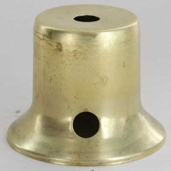 2-1/2in. Spun Brass Cup with Switch Hole - Unfinished Brass