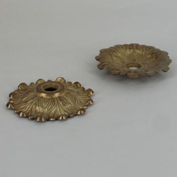 2-1/2in. Unfinished Cast Brass Small Victorian Leaf Bobesche