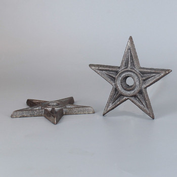 GREY IRON 3IN. DIAMETER STAR WITH TAPERED HOLE