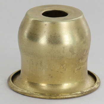 1-7/16in. Wide Spun Brass Bell Cup - Unfinished Brass