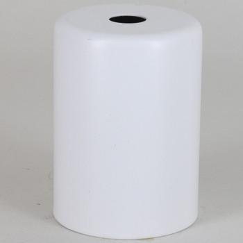 2-1/4in Tall Edison Lamp Socket Cup - White Powdercoat