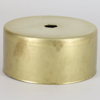 3-1/16in. Outside Diameter Cylinder Cup - Unfinished Brass