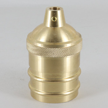 Cast Brass Plain Lamp Socket Cup 1/8ips Theaded Hole and 8/32 Threaded Set Screw