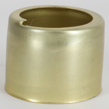 1-1/2 In. Tall Threaded Socket Vanity Cup - Unfinished Brass