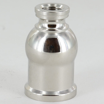 Small Brass Candle Cup - Polished Nickel Finish