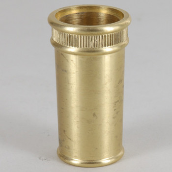 1/8ips - 1-1/8in Diameter Turned Brass Reeded Edge Cup - Unfinished Brass