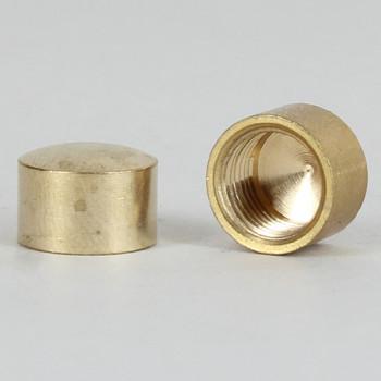 1/8ips - 1/2in x 5/16in Flat Cap Finial - Unfinished Brass