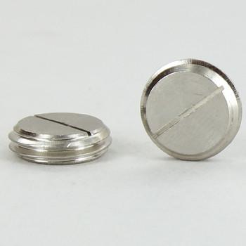 1/4ips Male Threaded - Slotted Plug - Polished Nickel