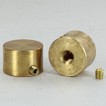 1/4-27 UNS - 3/4in x 1/2in Anti-Theft Cylinder Finial - Unfinished Brass