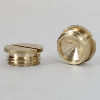 1/8ips Male - Slotted Plug - Unfinished Brass