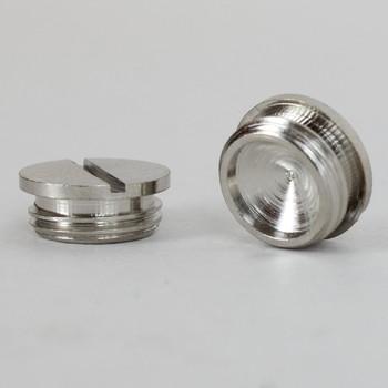 1/8ips Male - Slotted Plug - Polished Nickel
