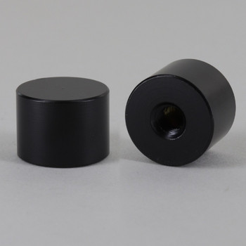1/4-27 UNS - 3/4in x 1/2in Cylinder Finial - Black Powdercoated Finish