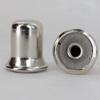 1/4-27 UNS - 1in. Diameter Top Hat Finial - Nickel Plated