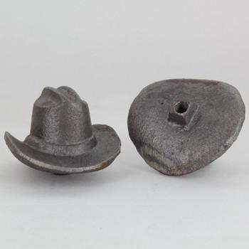 1/4-27 UNS - Cowboy Hat Finial - Cast Iron