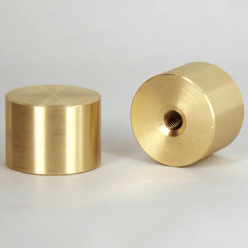 1/4-27 UNS - 1in X 3/4in Cylinder Finial - Unfinished Brass