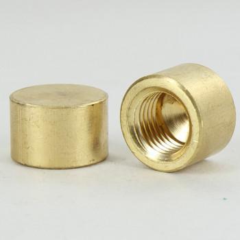 1/4ips - 3/4in X 1/2in - Flat Bracket Cap - Unfinished Brass