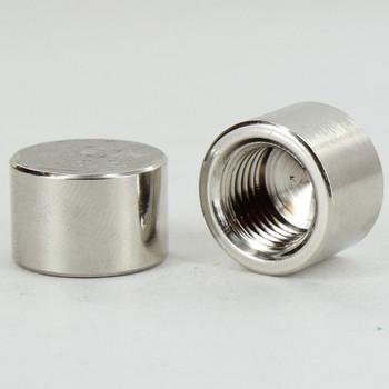 1/4ips - 3/4in X 1/2in - Flat Bracket Cap - Polished Nickel