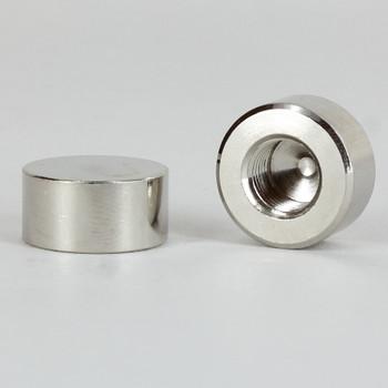 1/8ips - 3/4in x 3/8in - Flat Cap Finial - Nickel Plated