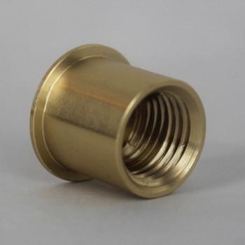 1/4ips - 3/4in x 5/8in Flat Shoulder Cap - Unfinished Brass