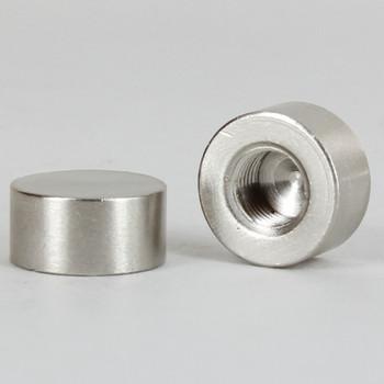 1/8ips - 3/4in x 3/8in - Flat Cap Finial - Satin Nickel