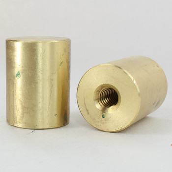 1/4-20 UNC - 3/4in x 1in Cylinder Finial - Unfinished Brass