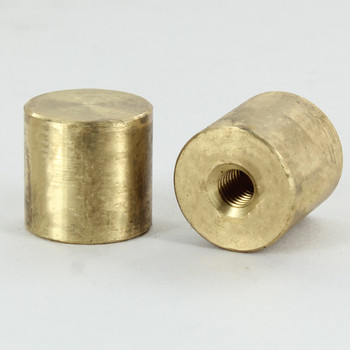1/4-27 UNS - 3/4in Cylinder Finial - Unfinished Brass