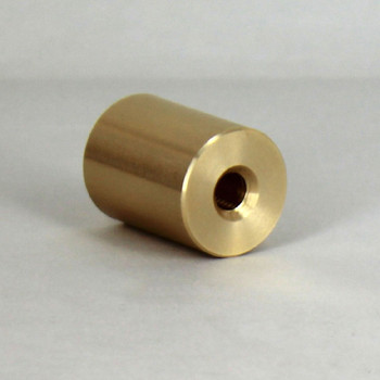 1/4-27 UNS - 3/4in x 1in Brass Flat Finial - Unfinished Brass