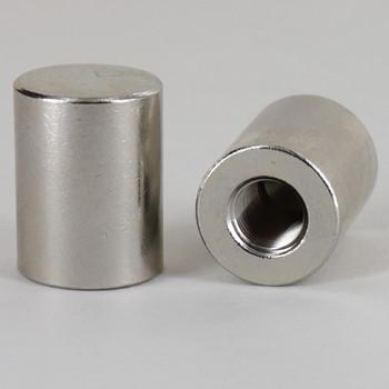 1/8ips - 3/4in X 1in Flat Cap Finial  - Nickel Plated