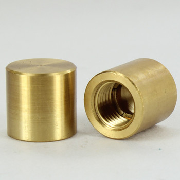 1/4ips - 3/4in x 3/4in Cylinder Finial - Unfinished Brass