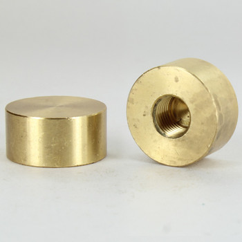 1/4ips - 1-1/4in X 5/8in Disc Finial - Unfinished Brass