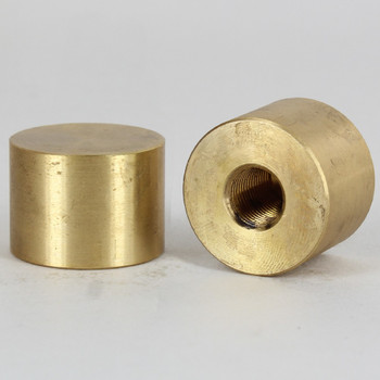 1/8ips - 1 in x 3/4in Cylinder Finial - Unfinished Brass