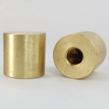 1/8ips - 1in X 1in Cylinder Cap Finial - Unfinished Brass