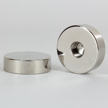1/8ips - 1-1/4in X 3/8in - Disc Finial - Polished Nickel