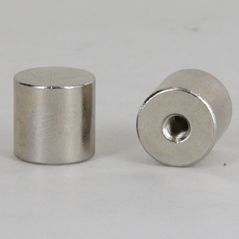 8/32 UNC - 1/2in x 1/2in Cylinder Finial - Nickel Plated