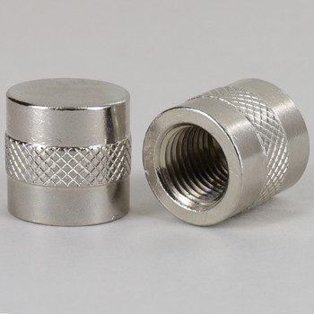 1/4ips - 3/4in W x 3/4in - Knurled Cylinder Finial - Nickel Plated