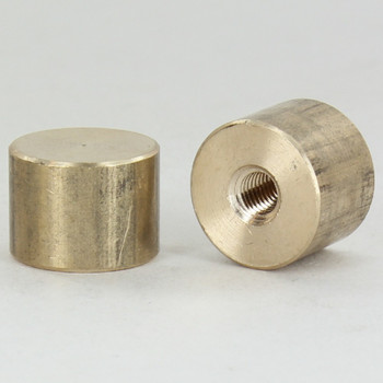 1/4-27 UNS - 3/4in x 1/2in Cylinder Finial - Unfinished Brass