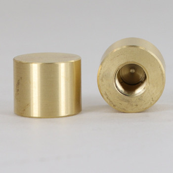 5/16-27 UNS - 5/8in X 1/2in Cylinder Finial - Unfinished Brass
