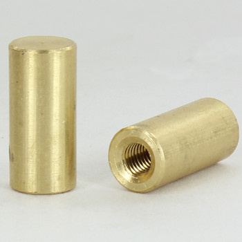 1/4-27 UNS - 1/2in x 1in  Cylinder Finial - Unfinished Brass