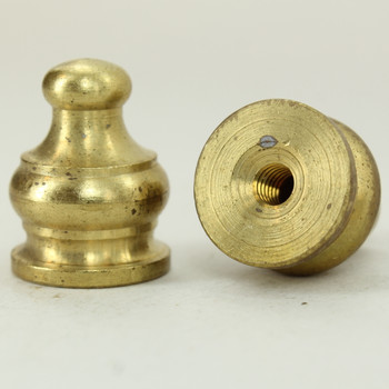 8/32 UNC - 1/2in X 5/8in Pyramid Finial - Unfinished Brass