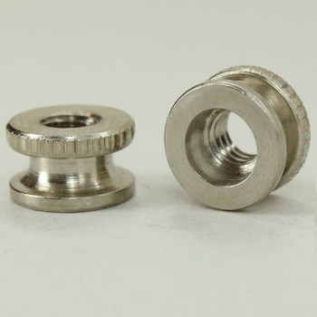 8/32 UNC - 3/8in x 3/16in Knurled Battery Nut - Nickel Plated