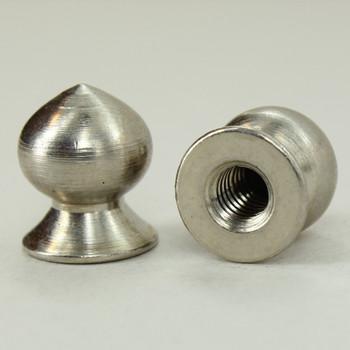 8/32 UNC - 3/8in x7/16in Pear Knob Finial - Polished Nickel