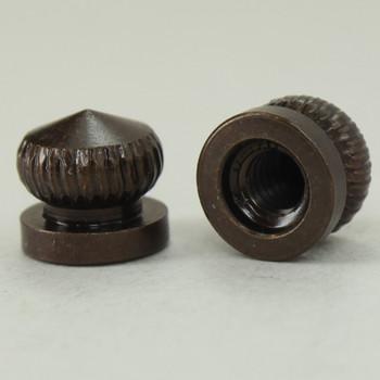 8/32 UNC - 5/16in x 5/16in Knurled Acorn - Antique Bronze