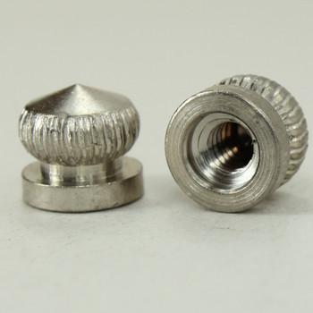 8/32 UNC - 5/16in x 5/16in Knurled Acorn - Satin Nickel