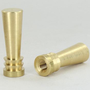 1/4-27 UNS - Modern Bat Finial - Unfinished Brass