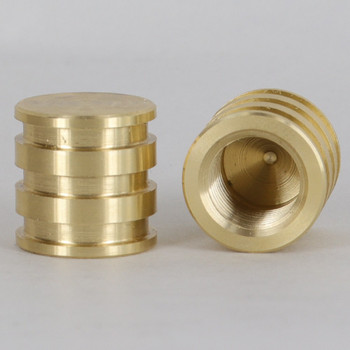 1/4ips - 3/4in X 3/4in Decorative Finial - Unfinished Brass