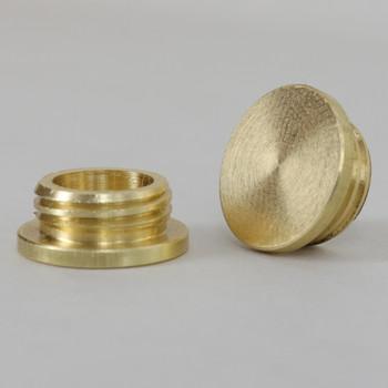 1/4ips Male Threaded Plain Brass Plug - Unfinished Brass