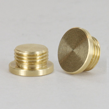 1/8ips Male - 1/2in X 1/4in Plain Plug - Unfinished Brass