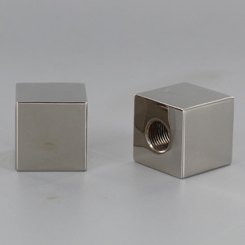 1/8ips - 7/8in X 7/8in Square Finial - Polished Nickel