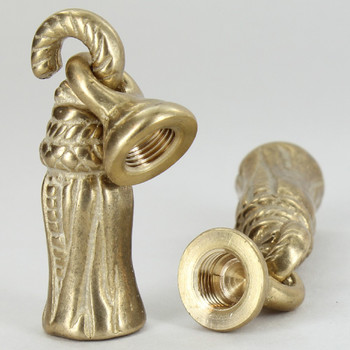 1/8ips - 5/8in x 2-1/2in Tassel Finial - Unfinished Brass