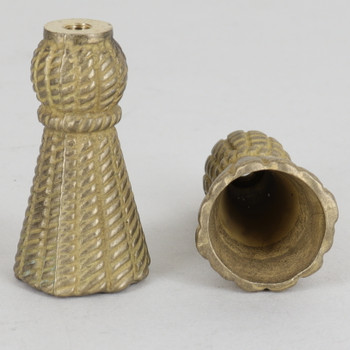 8/32 UNC - 1-1/2in X 7/8in Tassel Finial - Unfinished Brass